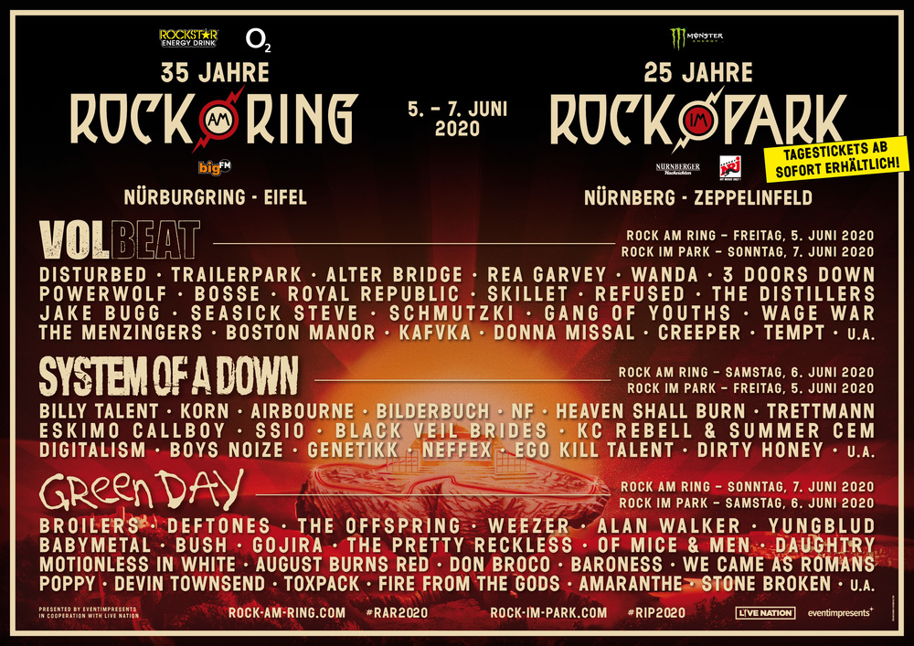 Bands Rock Am Ring 2021
