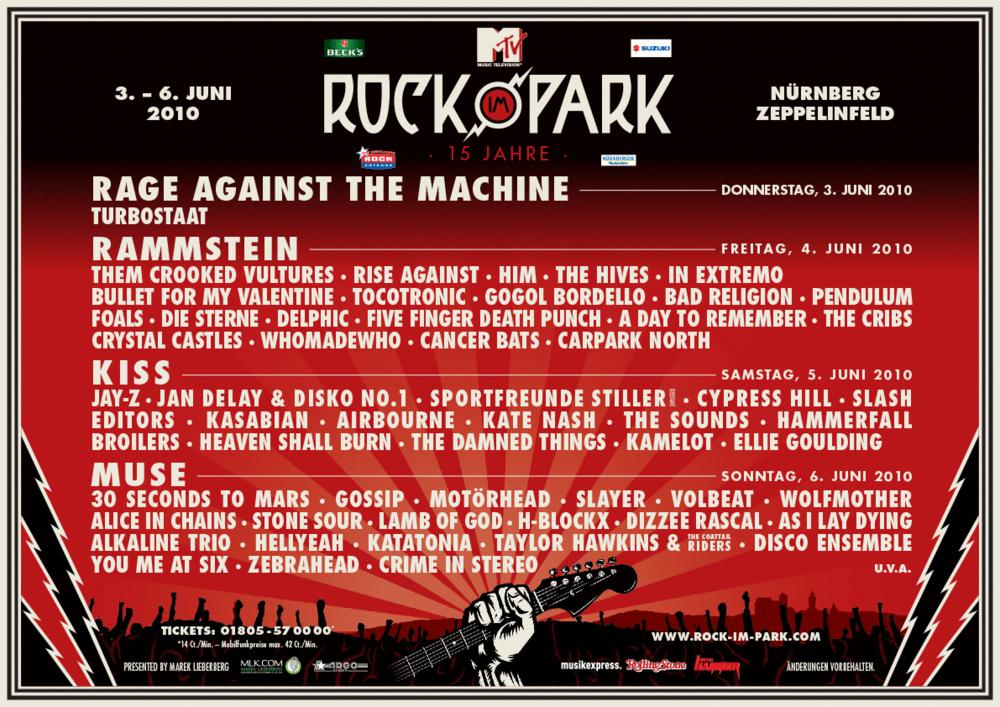 Lineup 2018 - Rock im Park 2018